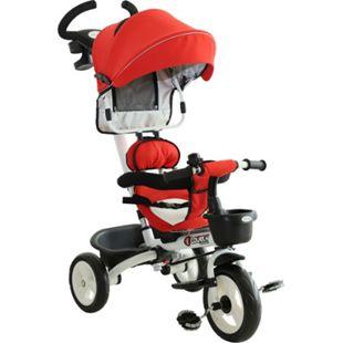 HOMCOM 4-in-1 Kinderdreirad mit Sonnendach 118 x 53 x 105 cm (LxBxH) | Dreirad Kinderfahrrad Kinderfahrzeug Kinderwagen - Bild 1