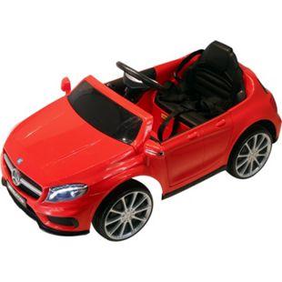 HOMCOM Kinder Elektroauto Mercedes Benz AMG GLA rot 100 x 58 x 46 cm (LxBxH) | Mercedes Kinderauto Kinderfahrzeug Kinderwagen - Bild 1