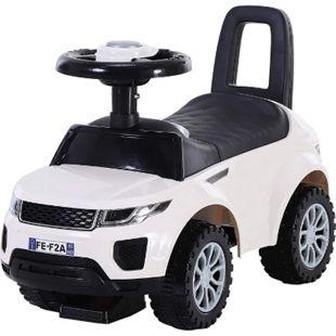HOMCOM Rutschauto mit Hupe und Stauraum weiß, schwarz 62 x 28 x 41,5 cm (LxBxH) | Kinder Rutscherfahrzeug Kids Rutscher Lauflernhilfe - Bild 1
