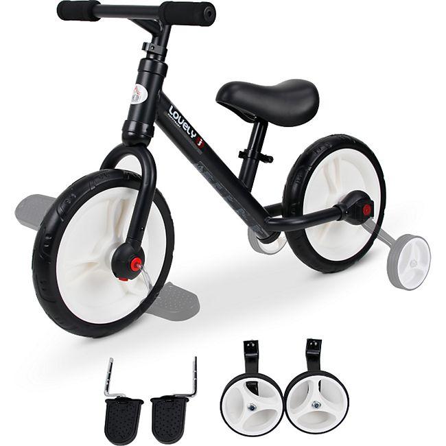 HOMCOM 2-in-1 Kinderfahrrad 85 x 36 x 54 cm (LxBxH) | Laufrad Lauflernrad Kinderrad mit Stützrädern - Bild 1