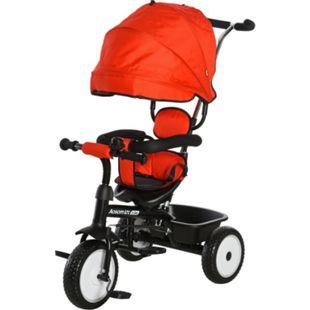 HOMCOM Kinderdreirad mit Sonnendach 78 x 47 x 99 cm (LxBxH) | Dreirad Kinderfahrrad Kinderfahrzeug Kinderwagen - Bild 1