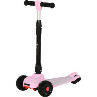 HOMCOM Tretroller für Kinder rosa 57 x 29 x 58-75 cm (LxBxH) | Kinder Scooter Cityroller Kinder Roller Bike - Bild 1