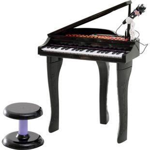 HOMCOM Kinderklavier inklusive Hocker 48 x 39 x 69 cm (LxBxH) | Kinder Klavier Piano Kinder Keyboard Mini-Klavier - Bild 1