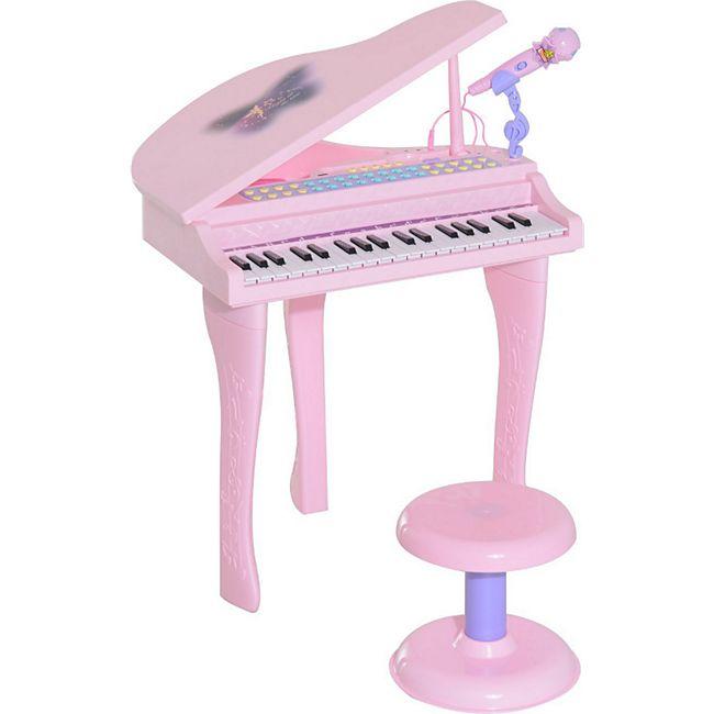 HOMCOM Kinderklavier inklusive Hocker 48 x 39 x 69 cm (LxBxH)   Kinder Klavier Piano Kinder Keyboard Mini-Klavier - Bild 1