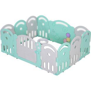 HOMCOM Baby Schutzgitter mit Ballkorb und 3 Zahnräder 162 x 122 x 63 cm (LxBxH)   Laufgitter Absperrgitter für Babys Krabbelgitter - Bild 1
