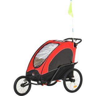HOMCOM 2 in 1 Fahrradanhänger für 2 Kinder 150 x 85 x 107 (LxBxH) | Kinderanhänger Kinderjogger Kinderwagen Anhänger - Bild 1