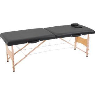 HOMCOM Mobiler Massagetisch schwarz 186 x 60 x 58-81 cm | Massageliege Entspannungsliege höhenverstellbar - Bild 1