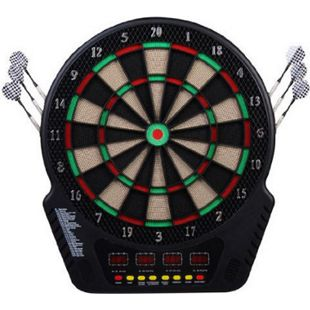 HOMCOM Elektronische Dartscheibe für bis zu 16 Spieler schwarz 44 x 3,2 x 51,5 cm (BxTxH) | Dartboard Dartscheibe Dartpfeile Spiel Board - Bild 1