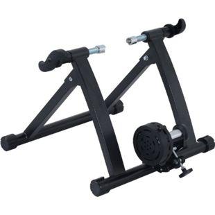 HOMCOM Rollentrainer mit Magnetbremse schwarz 54,5 x 47,2 x 39,1 cm (LxBxH) | Fahrrad Heimtrainer Hometrainer Fahrradtrainer - Bild 1
