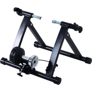 HOMCOM Rollentrainer mit Magnetbremse schwarz, silber 47,2 x 54,5 x 39,1 cm (LxBXH) | Heimtrainer Fahrrad Rennrad Trainingsgestell - Bild 1
