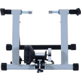 HOMCOM Heimtrainer mit Magnetbremse silber 47,2 x 54,5 x 39,1 cm (LxBXH) | Rollentrainer Fahrrad Rennrad Trainingsgestell - Bild 1