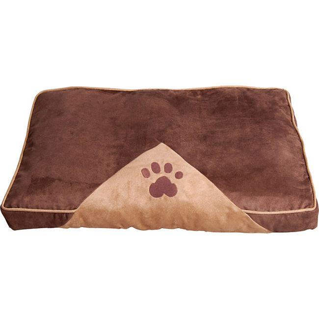 PawHut Hundeschlafplatz für Haustiere braun, hellbraun 100 x 70 cm (LxB) | Hundesofa Hundekissen Hundebett Kissenbett - Bild 1