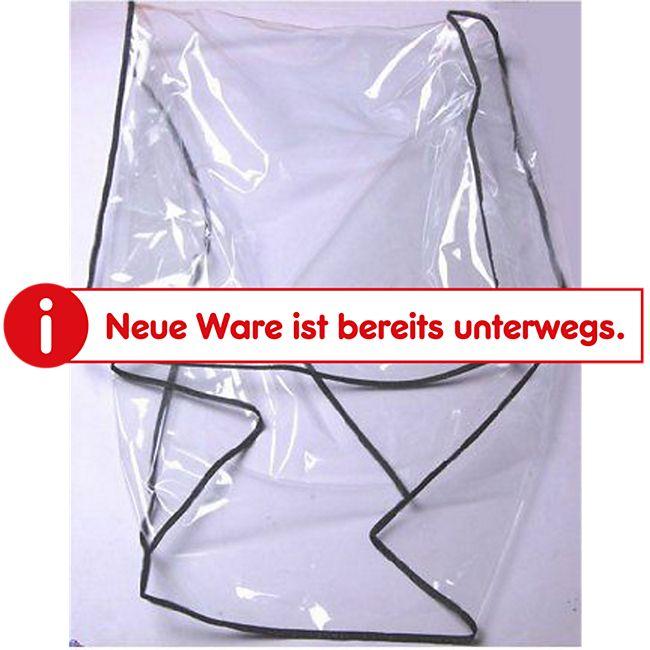 PawHut Regenschutz für Fahrradanhänger transparent ca. 74 x 65 x 20/54 cm (LxBxH vorne/hinten) | Regenüberzug Anhängerabdeckung Schutzplane - Bild 1