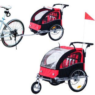 HOMCOM Kinderanhänger 2 in 1 – Fahrradanhänger und Jogger 125 x 88 x 107 cm (LxBxH)   Fahrradanhänger Jogger Kinderfahrradanhänger - Bild 1