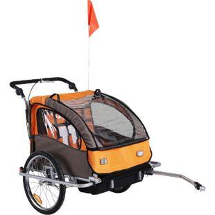 HOMCOM Kinderanhänger 2 in 1 – Fahrradanhänger und Jogger 125 x 88 x 107 cm (LxBxH) | Fahrradanhänger Jogger Kinderfahrradanhänger - Bild 1