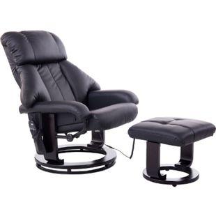 HOMCOM TV Sessel und Hocker mit Massage- und Heizfunktion 76 x 80 x 102 cm (LxBxH) | Fernsehsessel mit Hocker Massagesessel Relaxsessel - Bild 1