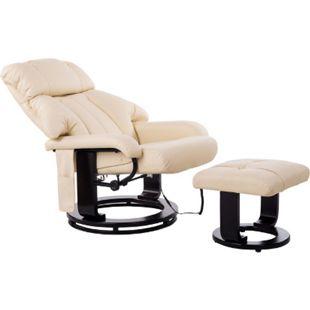 HOMCOM TV Sessel und Hocker mit Massage- und Heizfunktion 76 x 80 x 102 cm (LxBxH)   Fernsehsessel mit Hocker Massagesessel Relaxsessel - Bild 1