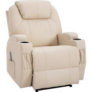 HOMCOM Massagesessel mit Wärme- und Liegefunktion 82 x 97 x 110 cm (BxTxH)   Fernsehsessel TV Sessel Relaxsessel Sessel - Bild 1