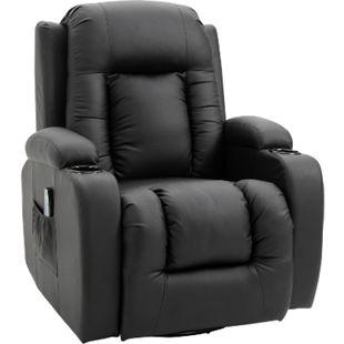 HOMCOM TV Sessel mit Massage- und Wärmefunktion 90 x 93 x 103 cm (LxBxH) | Massagesessel Fernsehsessel Relaxsessel Sessel - Bild 1