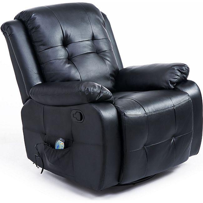 HOMCOM Massagesessel mit Wärmefunktion 94 x 95 x 103 cm (LxBxH) | TV Sessel Fernsehsessel Relaxsessel Massagestuhl - Bild 1