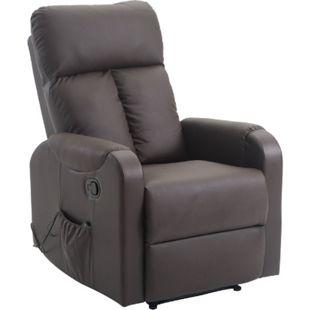 HOMCOM Massagesessel mit Wärme- und Liegefunktion kaffeebraun 96 x 76,5 x 106,5 cm (LxBxH) | Fernsehsessel TV Sessel Relaxsessel Sesse - Bild 1