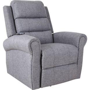 HOMCOM Massagesessel mit Aufsteh- und Wärmefunktion grau 96 x 98 x 105 cm (BxTxH) | Fernsehsessel TV Sessel Relaxsessel Sessel - Bild 1