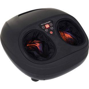HOMCOM Fußmassagegerät mit Wärmefunktion schwarz 36 x 40 x 20 cm (BxTxH) | Fußmassage Fussgerät Massagegerät Fußwellness - Bild 1