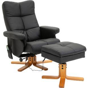 HOMCOM Massagesessel mit Fußhocker 80 x 86 x 99 cm (BxTxH) | TV Sessel Fernsehsessel Relaxsessel mit Hocker - Bild 1