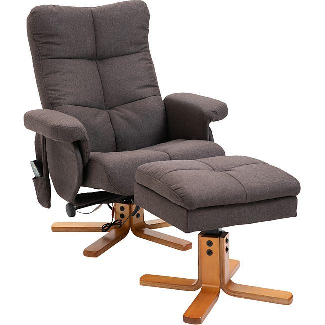 HOMCOM Massagesessel mit Fußhocker 80 x 86 x 99 cm (BxTxH)   TV Sessel Fernsehsessel Relaxsessel mit Hocker - Bild 1