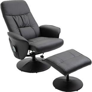 HOMCOM Massagesessel mit Fußhocker 81 x 81 x 105 cm (BxTxH)   TV Sessel Fernsehsessel Relaxsessel mit Hocker - Bild 1