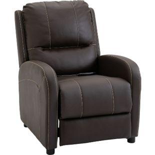 HOMCOM Massagesessel mit Wärme- und Liegefunktion 70 x 93 x 100 cm (BxTxH) | Fernsehsessel TV Sessel Relaxsessel Sessel - Bild 1