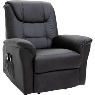 HOMCOM Massagesessel mit Wärmefunktion und Aufstehhilfe 100 x 93 x 105 cm (BxTxH) | Fernsehsessel TV Sessel Relaxsessel Sessel - Bild 1