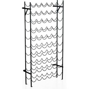 HOMCOM Weinregal mit 10 Fächerebenen schwarz 63 x 20,5 x 118 cm (LxBxH) | Weinständer Ständer für Weinflaschen Flaschenregal - Bild 1