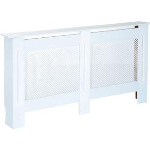 HOMCOM Heizkörperabdeckung weiß 152 x 82 x 19 cm (LxBxH) | Heizungsabdeckung Heizkörperverkleidung Abdeckung - Bild 1