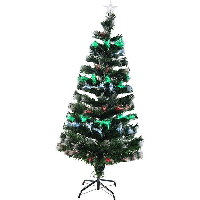 homcom k nstlicher weihnachtsbaum mit leuchtfaser tannenbaum christbaum led xmas tree. Black Bedroom Furniture Sets. Home Design Ideas