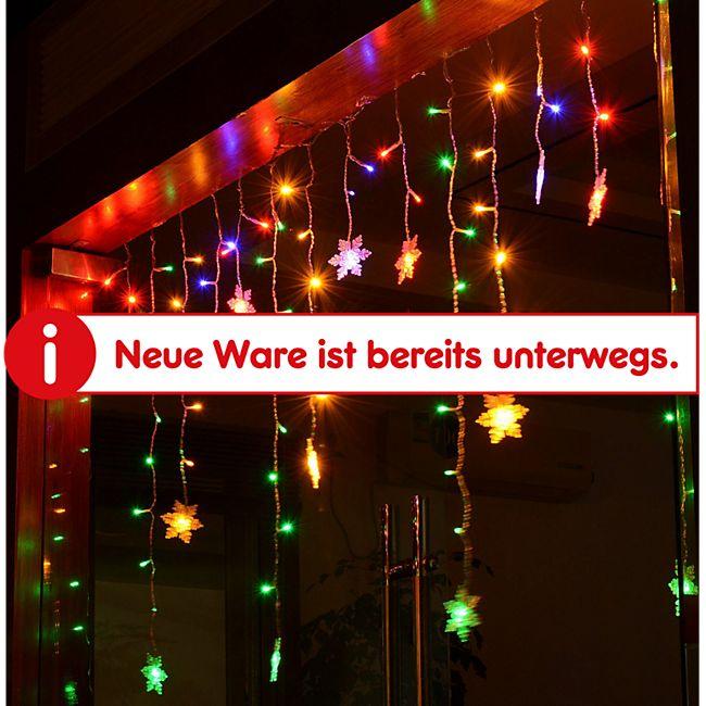 HOMCOM LED Lichterkette 350 x 80 cm (LxB) | Eiszapfen LED Lichtvorhang Weihnachtsbeleuchtung - Bild 1
