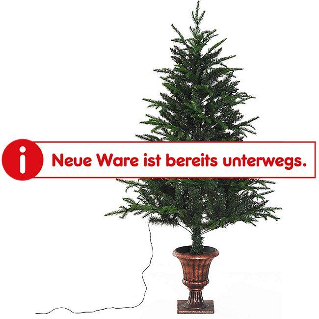HOMCOM Weihnachtsbaum mit Design-Ständer grün 85 x 150 cm (ØxH) | Tannenbaum Christbaum LED Xmas tree Lichtfaser - Bild 1