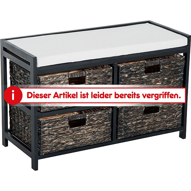 homcom sitzbank mit 4 k rben online kaufen netto. Black Bedroom Furniture Sets. Home Design Ideas