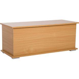HOMCOM Holzkiste mit klappbarem Deckel 100 x 40 x 40 cm (LxBxH) | Holztruhe Aufbewahrungsbox Spielzeugtruhe - Bild 1