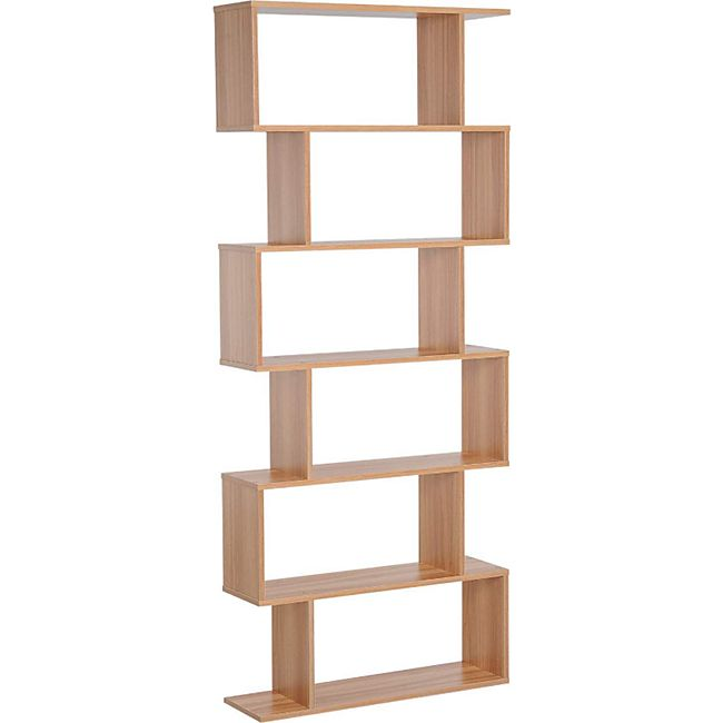 HOMCOM Bücherregal mit 6 Fächer 80 x 23 x 192 cm (LxBxH) | Standregal Raumteiler Wandregal Büroregal - Bild 1