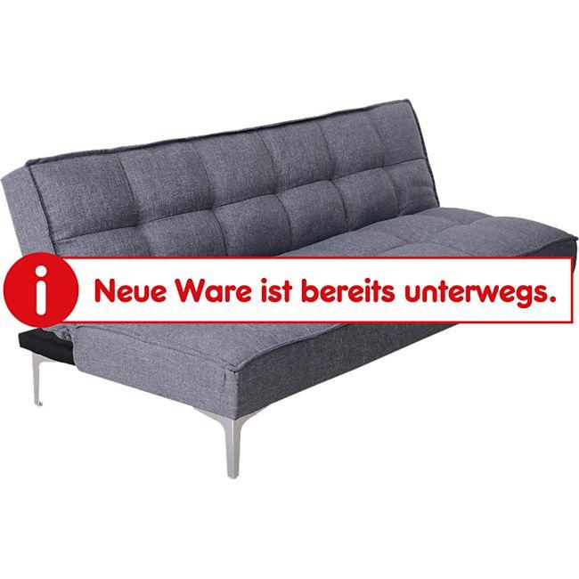 HOMCOM Schlafcouch als 3-Sitzer grau | Sofabett Sofagarnitur Klappsofa 3-Sitzer Gästebett - Bild 1