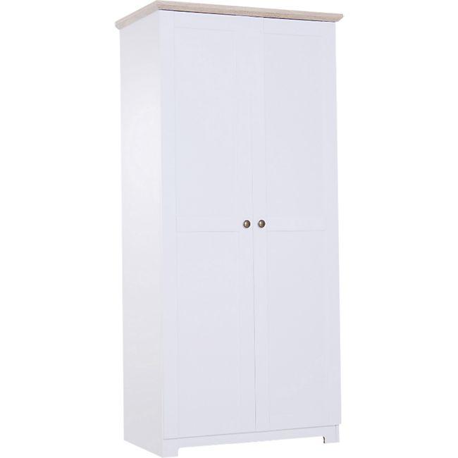 HOMCOM Kleiderschrank weiß 48 x 80 x 172 cm (LxBxH) | Holzschrank Aufbewahrungsschrank Mehrzweckschrank - Bild 1