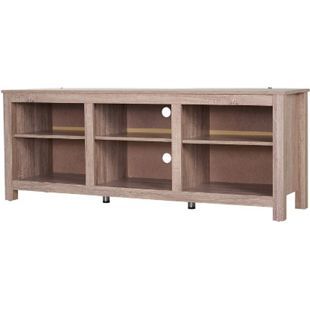 HOMCOM TV Lowboard natur 160 x 40 x 61 cm (BxTxH) | TV-Regal Fernsehregal Regal TV-Board Sideboard - Bild 1