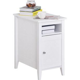 HOMCOM Beistelltisch weiß 36 x 55 x 64 cm (BxTxH) | Kaffeetisch Nachttisch Couchtisch Telefontisch - Bild 1