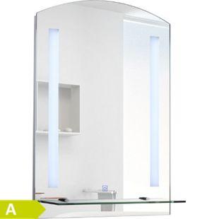 HOMCOM LED Wandspiegel silber 50 x 4 x 70 cm (BxTxH) | Badspiegel LED Lichtspiegel Badezimmerspiegel - Bild 1