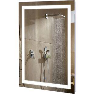 kleankin Badezimmerspiegel mit LED Beleuchtung weiß, silber 60 x 4 x 80 cm (BxTxH) | Spiegel Badspiegel Wandspiegel Badezimmerspiegel - Bild 1