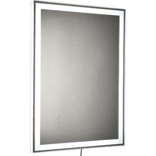 kleankin LED-Spiegel mit Touch-Schalter silber 70 x 3 x 50 cm (BxTxH) | Badspiegel mit LED Wandspiegel Badezimmerspiegel - Bild 1