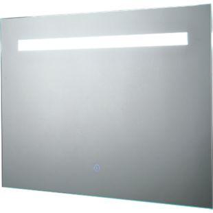 kleankin LED-Spiegel mit Touch-Schalter silber 70 x 3 x 50 cm (BxTxH) | Badezimmerspiegel Badspiegel Wandspiegel - Bild 1