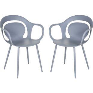 HOMCOM Esszimmerstuhl im 2er Set grau 58,5 x 60 x 83,5 cm (BxTxH) | Wohnzimmerstuhl Küchenstuhl Polsterstuhl Stuhl - Bild 1