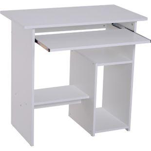 HOMCOM Computertisch mit ausziehbarer Tastaturplatte 80 x 45 x 73,5 cm (BxTxH) | Schreibtisch Bürotisch Gamingtisch PC-Tisch - Bild 1